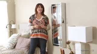 Belham Living Hollywood Mirrored Wall Mount Jewelry Armoire - Product Review Video