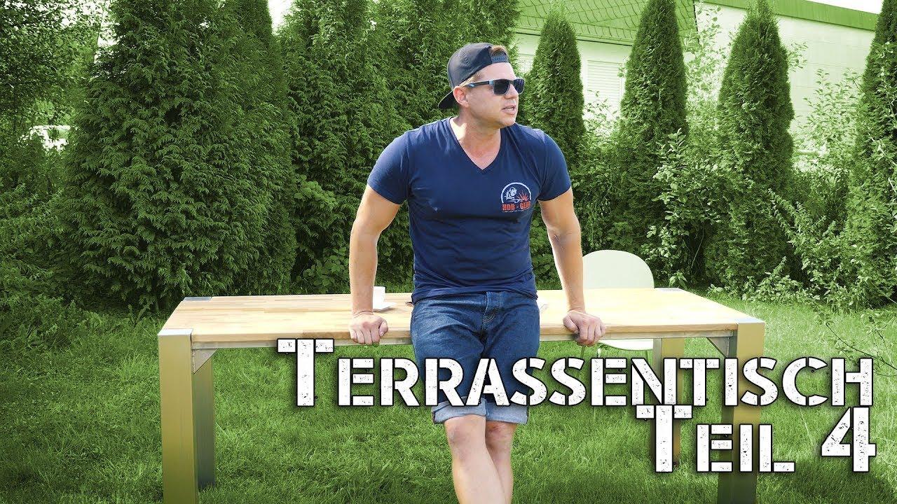 Terrassentisch selber bauen teil 4 fazit und kosten youtube for Terassentisch selber bauen