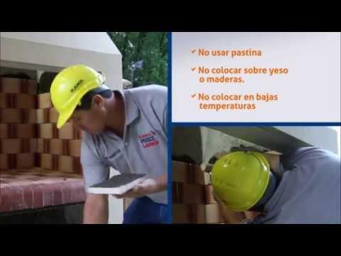 Cómo Colocar Ladrillos Refractarios En Parrillas Chimeneas Y Hornos Klaukol Refractario Youtube