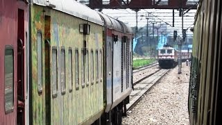 LHB Trains in Queue - New Delhi - Indian Railways !