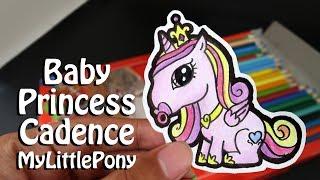 Easy Draw Princess Cadence My Little Pony | How to draw Baby Princess Cadence | MiniChibi - Cute Fun