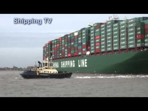 World's biggest container ship CSCL Globe maiden call: