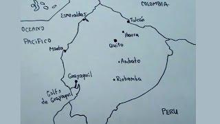 Mapas de suramerica 5/8 - Cómo dibujar el mapa de Ecuador- maps drawing