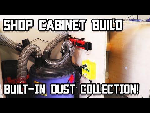 Easy (Hidden) Dust Collection for Cabinet Build - Part 5!