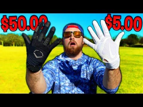 $5 Batting Gloves vs. $50 Batting Gloves! IRL Baseball Challenge
