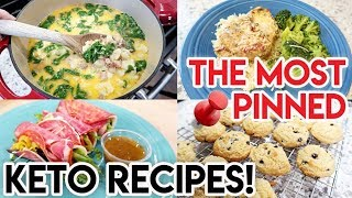 TRYING THE MOST PINNED KETO RECIPES! 📌 KETO ZUPPA TOSCANA 🍽 MARRY ME CHICKEN 🍗 FREE TO FAMILY
