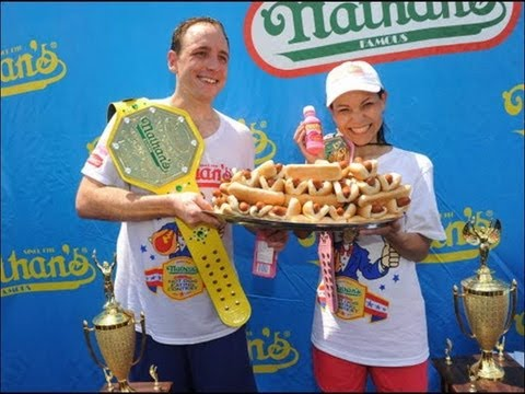 Joey Chestnut Hot Dog Eating Contest