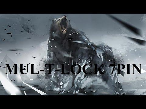 Взлом отмычками Mul-T-Lock 7PIN  Вскрытие цилиндра MUL-T-LOCK 7PIN (МУЛЬТИЛОК 7 ПИНОВ)