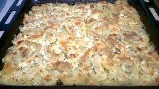 Филе трески с картофелем и луком,под майонезом