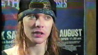 Axl Rose - Donnigton Interview 88