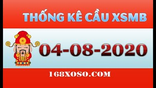 Thống kê cầu đẹp xổ số Miền Bắc - Quảng Ninh Thứ 3 ngày 04/08/2020