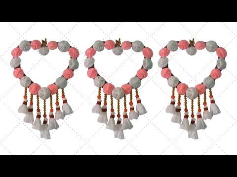 💫 উলের সুতা দিয়ে গোলাকার ওয়াল হ্যাঙ্গিং 🌗 wall hanging craft ideas simple