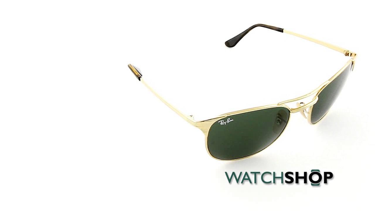 2bfa3bf9d3b1c Ray-Ban Men s Signet Sunglasses (RB3429M-001-55) - YouTube