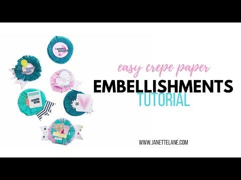 Embellishments Tutorial | Crepe Paper Medallions