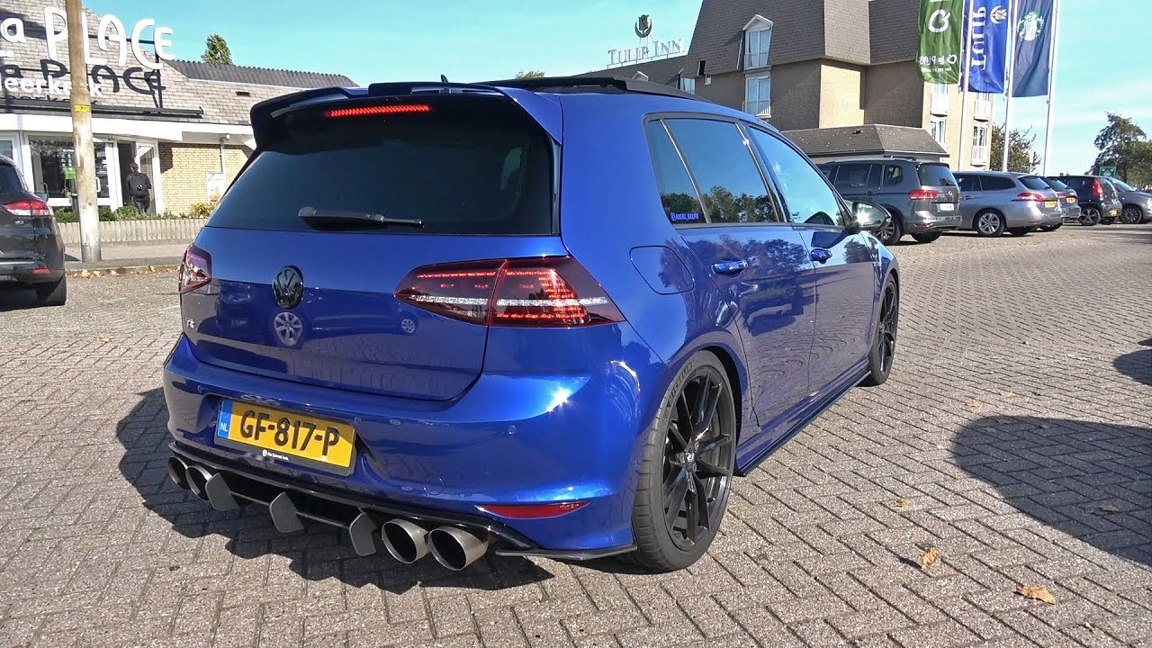 hp vw golf    loud armytrix exhaust system revs accelerations youtube