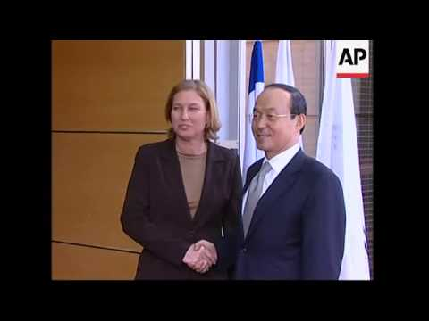 SKorean FM meets his Israeli counterpart Tsipi Livni