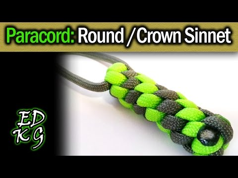 Make the 39 crown sinnet 39 paracord keyfob boredparacord for Easy paracord lanyard