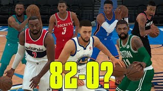 Can A Team Of Point Guards Go 82-0? NBA 2K18 Challenge!
