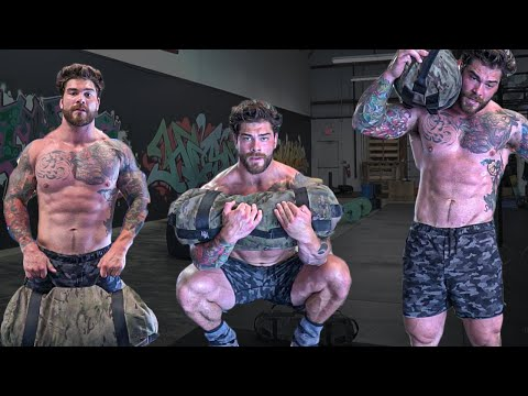 TOP 3 at home SANDBAG WORKOUT routine Total Body sandbag strength training