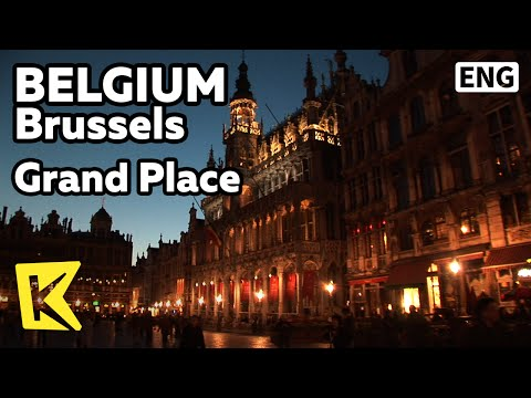 【K】Belgium Travel-Brussels[벨기에 여행-브뤼셀]그랑플라스 광장의 밤/Grand Place/Panorama/Night/View