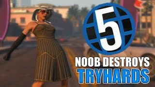 Level 5 Noob Destroying Tryhards On GTA 5 Online