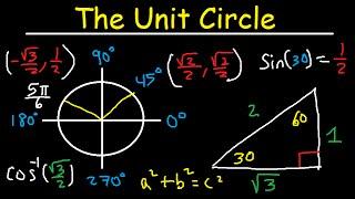 Unit Circle Trigonometry - Sin Cos Tan - Radians & Degrees