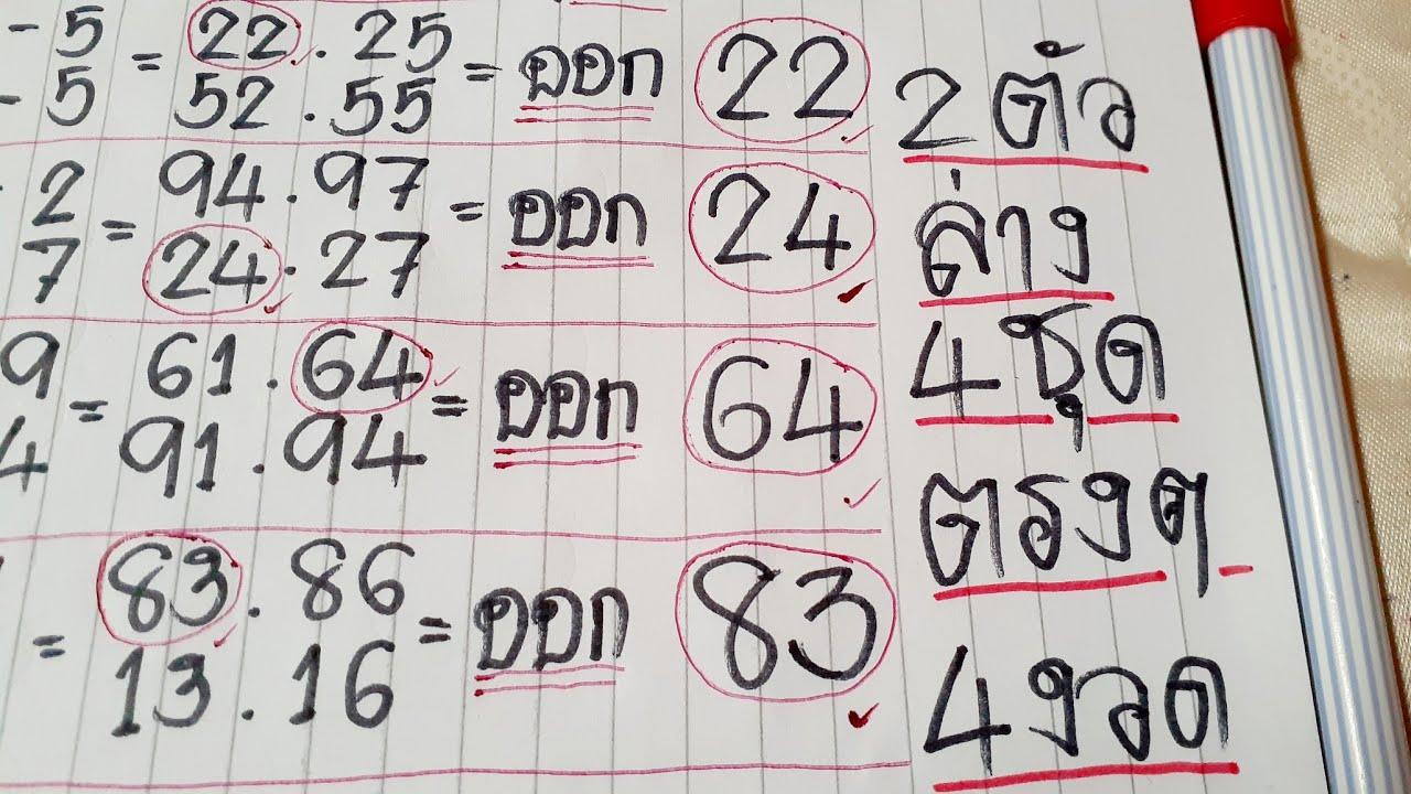 สูตร 2ตัวล่าง 4ชุดตรงๆ(83) ไม่ต้องกลับ แนวทาง แม่นๆ