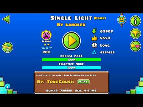 [GD] SINGLE LIGHT BY DANOLEX (DAILY LEVEL) (ALL COINS) | GEOMETRY DASH 2.13