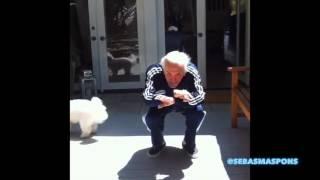 Kirk Douglas is still dancing at 100