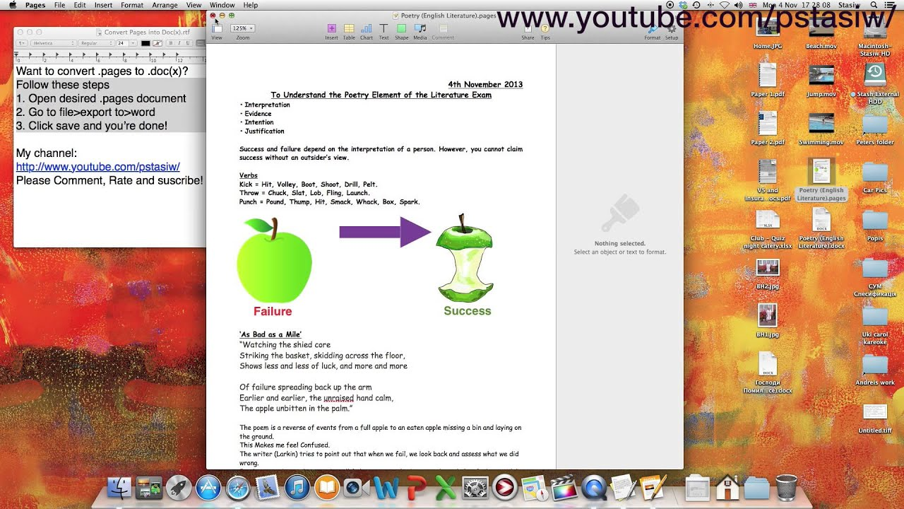 How to Convert a  pages File to a  doc or  docx File - HD Macintosh