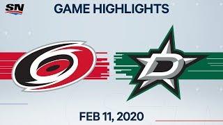 NHL Highlights | Hurricanes Vs. Stars – Feb. 11, 2020