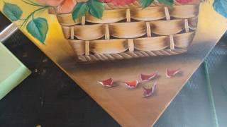 Roberto Ferreira – Pintura em Tela Pétalas ao chão e acabamentos