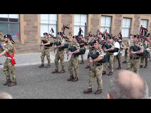 "The Black Watch play ""The Atholl Highlanders & The Glendaruel Highlanders"" Perth 2018 [4K/UHD]"