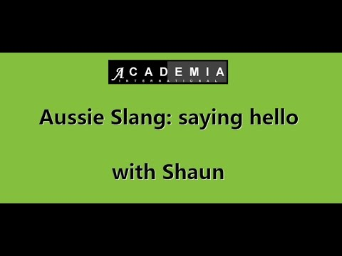 Aussie slang saying hello aussie slang saying hello m4hsunfo