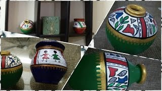DIY- Pot Painting  | warli art | decoration | Enjoy Crafting