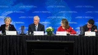 Tillerson, US allies huddle to choke North Korea finances