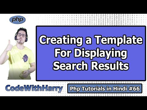 Creating A Template For Displaying Search Results   PHP Tutorial #66