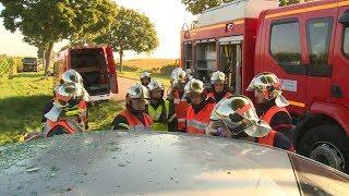 Manoeuvre des Sapeurs Pompiers Volontaires du Centre de Secours de Marckolsheim