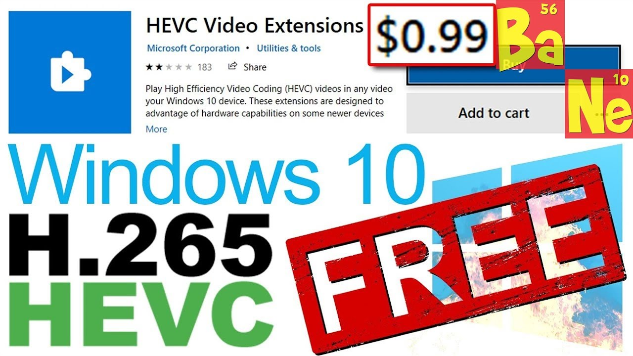 How to download Windows 10 HEVC H.265 Video Codec for FREE. Don't buy!