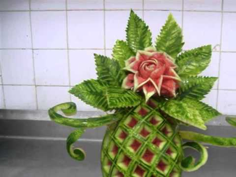 Des sculpture sur l gumes fruits par des mains purement tunisiennes youtube - Sculpture sur fruits et legumes ...