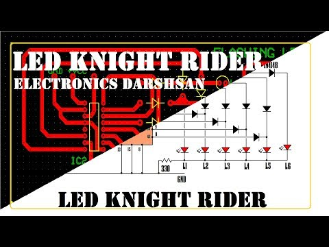Pcb Layout Of Led Knight Rider Project #47