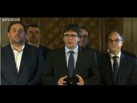 Comparecencia del president Carles Puigdemont
