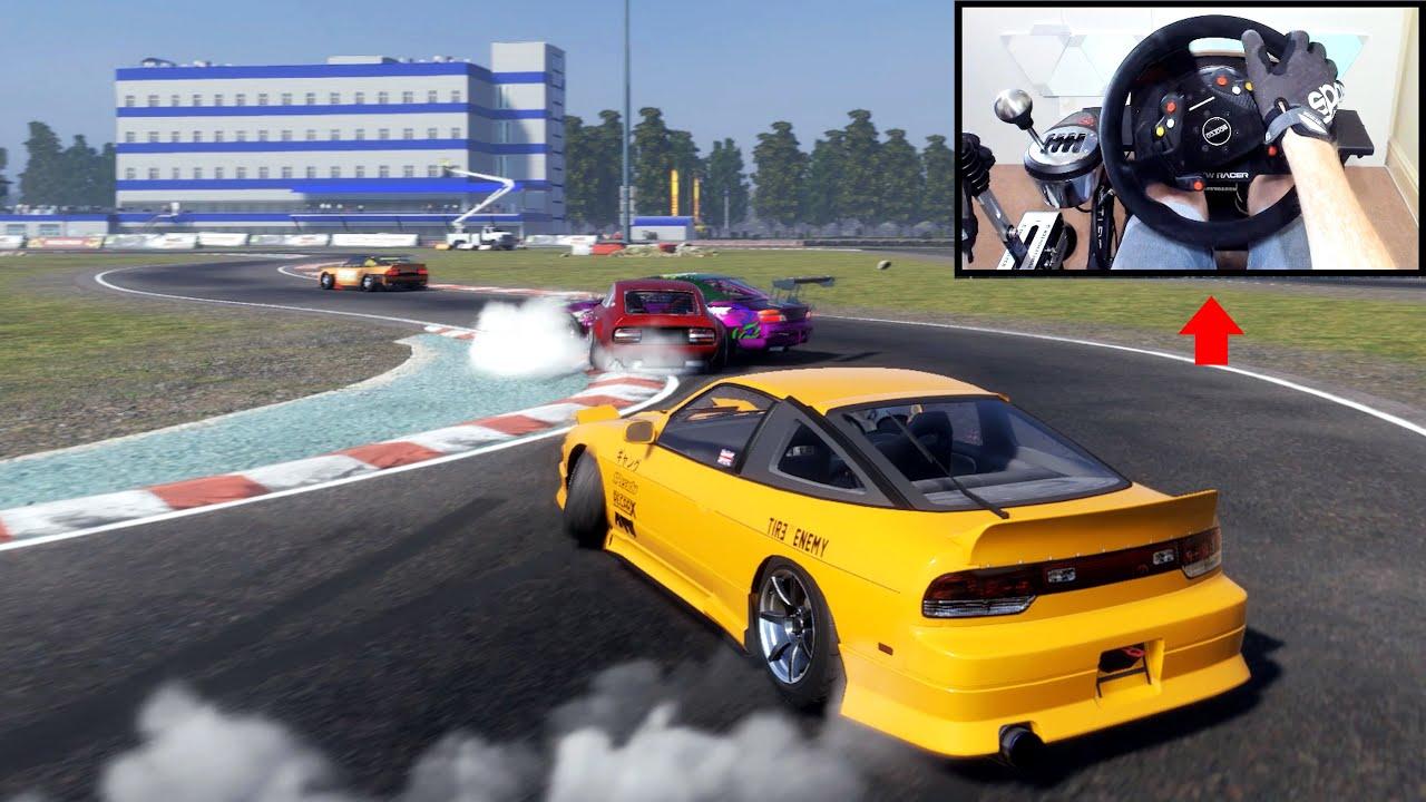 CarX Drift Racing NEW Map! (ATRON) | Steering Wheel Gameplay PC - YouTube