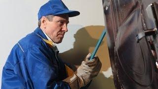 Китайские двери. Взлом китайской двери ножом.(Взлом китайской (бронедвери) http://dveri.com.ua/ Представляем вам видео взлома китайской двери в лаборатории..., 2013-12-16T13:59:48.000Z)