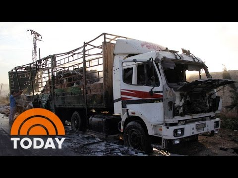 US Blames Russia For Aid Convoy Bombing In Syria | TODAY