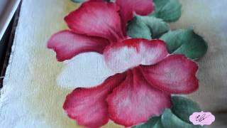 Eliane Nascimento: Pintando Hibiscos.
