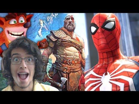 REACCIÓN E3 2017   Spiderman PS4, God of War, Shadow of the Colossus & Crash Bandicoot!