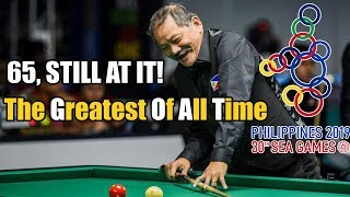 EFREN 'BATA' REYES BEAT THAILAND WITH 64 POINTS LEAD 100-36 IN SEA GAMES 2019 FOR 1 CUSHION CAROM