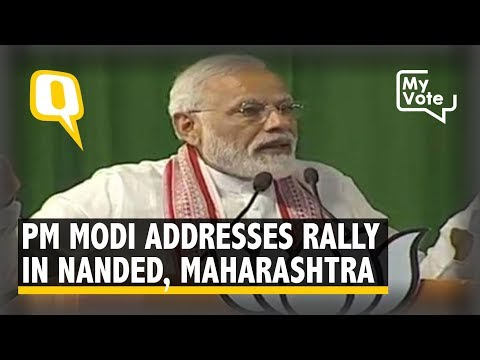 2019 Elections | PM Narendra Modi Addresses a Rally in Nanded, Maharashtra
