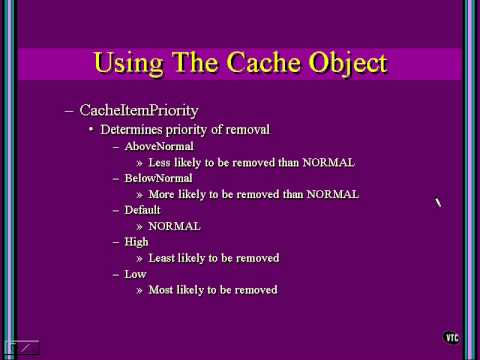 68 Using Cache Object